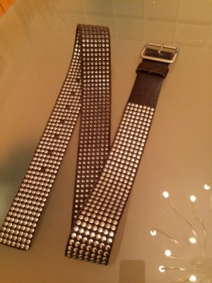 Closed Studded riem donkerbruin Leer