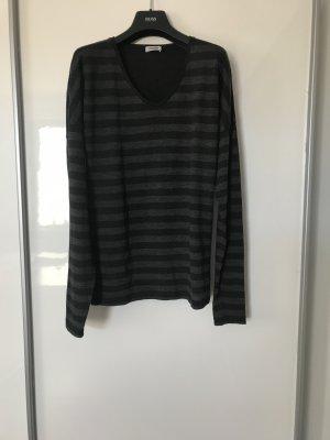 Closed V-halstrui zwart-grijs Wol