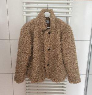 Closed Fur Jacket beige-black brown