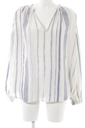 Closed Oversized Bluse weiß-dunkelblau Streifenmuster Casual-Look