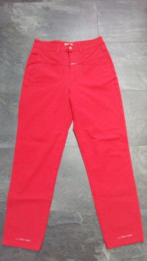 Closed Pantalone a vita alta rosso-rosso mattone