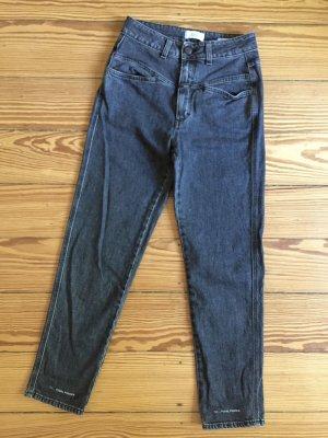 Closed Jeans a vita alta nero Cotone