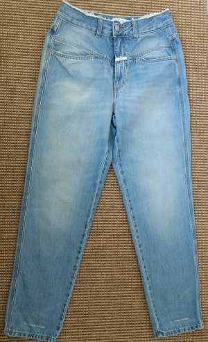 Closed Jeans a vita alta azzurro Cotone