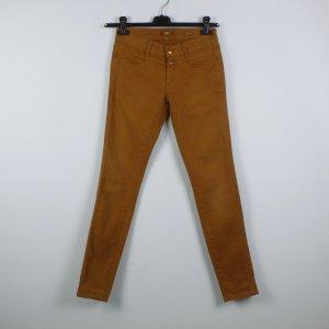 Closed Pantalón de pinza alto marrón Algodón