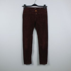 Closed Pantalone peg-top marrone-rosso Cotone