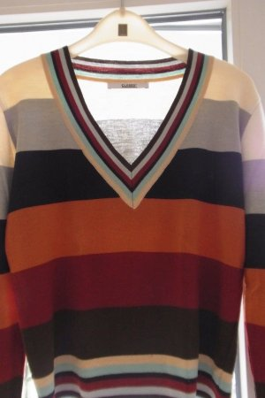 Closed Pullover Gr. L V-Ausschnitt in orange / rot / braun / mint