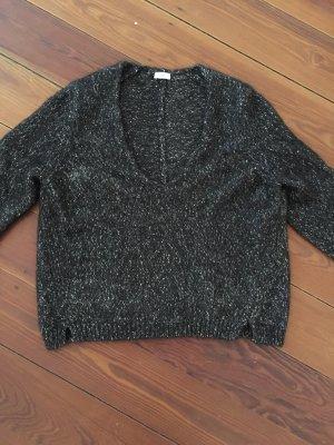 Closed Pullover V-Ausschnitt in Braun Meliert Wollpullover Sweater kuschelig