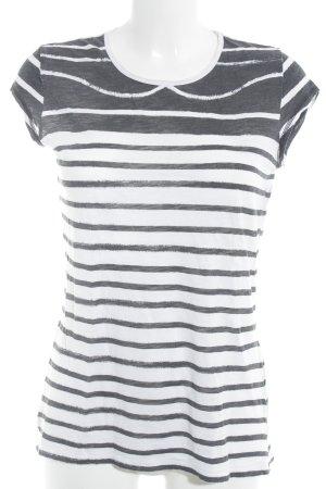 Closed Maglietta a righe bianco sporco-nero motivo a righe stile casual