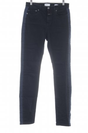 Closed Röhrenjeans schwarz-stahlblau Jeans-Optik