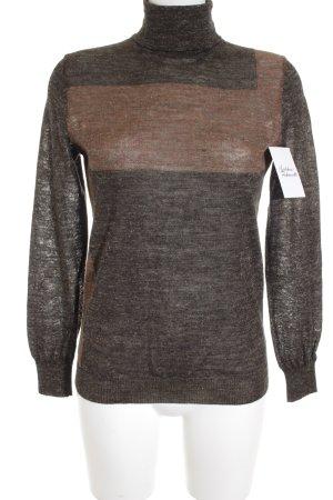 Closed Rollkragenpullover braun-graubraun abstraktes Muster schlichter Stil