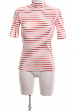 Closed Colshirt wit-zalm gestreept patroon simpele stijl