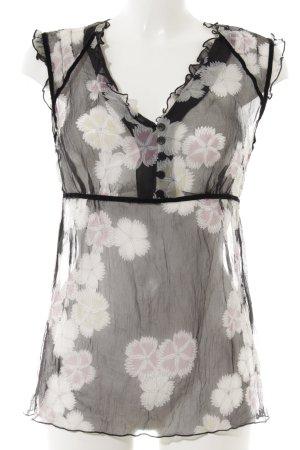 Closed Rüschen-Bluse florales Muster Romantik-Look