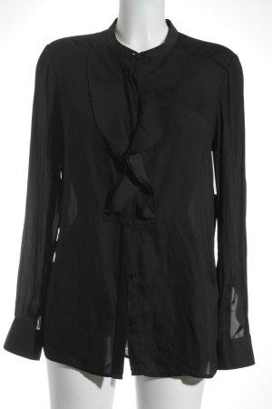 Closed Rüschen-Bluse schwarz schlichter Stil
