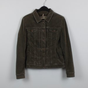 Closed Samtjacke Gr. L khaki (18/11/348/R)
