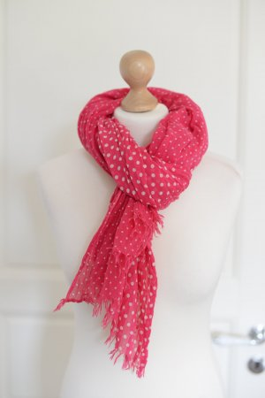 Closed Schal, pink mit Tupfen