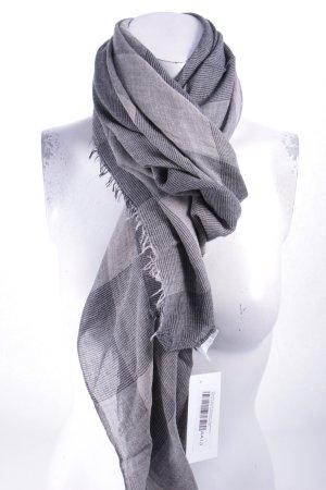 Closed Schal schwarz-graubraun Karomuster klassischer Stil
