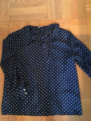 Closed Seidenbluse, blau mit weißen Punkten, Gr S