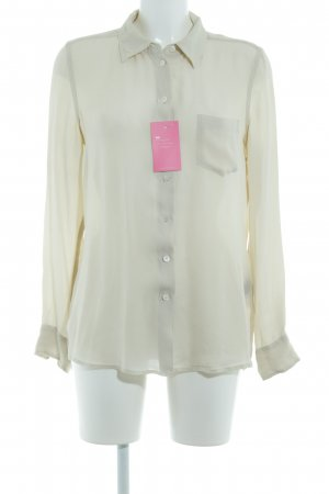 Closed Seidenbluse hellbeige Transparenz-Optik