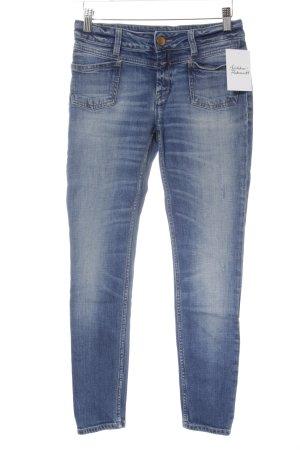 Closed Skinny Jeans blau Destroy-Optik