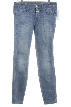 Closed Skinny Jeans blau Street-Fashion-Look