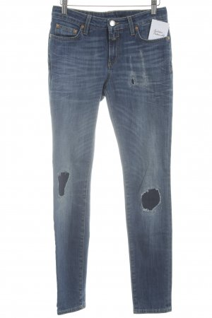 Closed Skinny Jeans blau Used-Optik