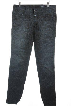 Closed Skinny Jeans dunkelblau-schwarz florales Muster Casual-Look
