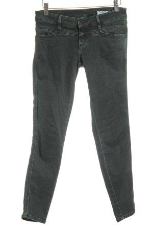 Closed Skinny Jeans dunkelgrün-grün Washed-Optik