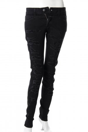 Closed Skinny Jeans schwarz Destroyed-Optik