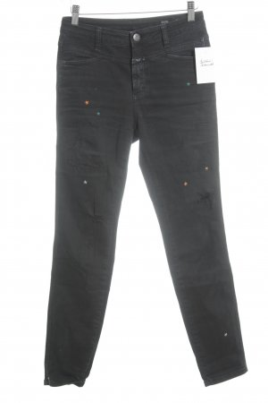Closed Skinny Jeans schwarz Used-Optik