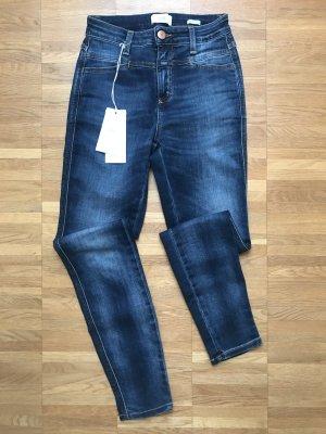 Closed Hoge taille jeans blauw Katoen