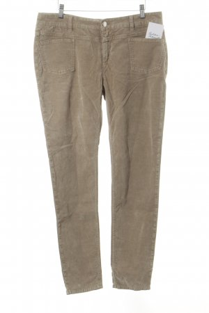 Closed Slim Jeans beige Samt-Optik