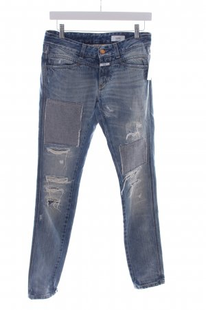 Closed Slim Jeans blau Destroy-Optik