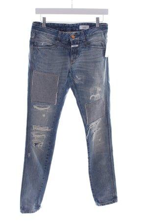 Closed Slim Jeans blau Destroy-Optik