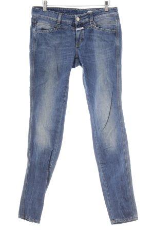Closed Slim Jeans blau-silberfarben Casual-Look