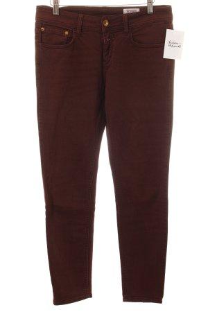 Closed Slim Jeans bordeauxrot Casual-Look