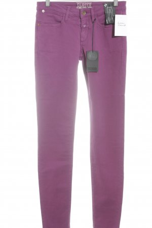 Closed Slim jeans bruin-paars-violet casual uitstraling