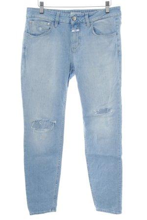 Closed Slim Jeans blau Street-Fashion-Look