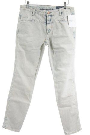 Closed Slim Jeans creme-stahlblau Bleached-Optik