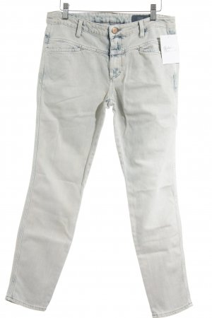 Closed Slim Jeans creme-stahlblau Bleached-Optik