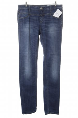 Closed Slim Jeans dunkelblau-wollweiß Washed-Optik