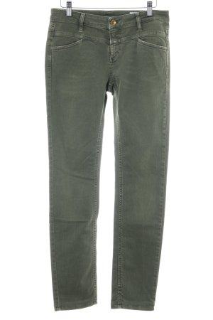 Closed Slim Jeans olivgrün Casual-Look