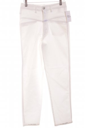 """Closed Slim Jeans """"Pedal Pusher"""" weiß"""