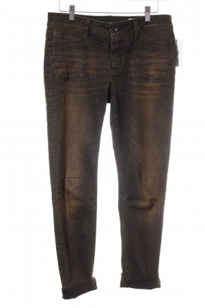 Closed Slim Jeans schwarz-braun Street-Fashion-Look