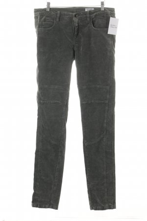 Closed Slim Jeans waldgrün Samt-Optik