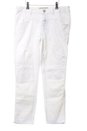 Closed Jeans slim blanc style déchiré