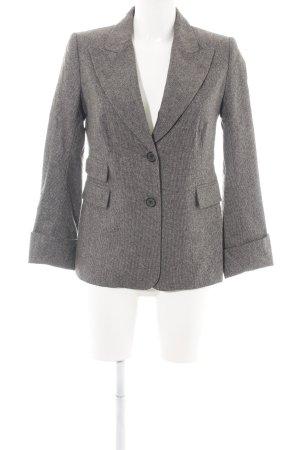Closed Blazer de esmoquin marrón-blanco puro Patrón de tejido