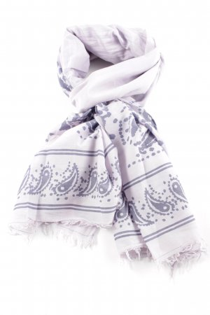 Closed Summer Scarf white-blue graphic pattern casual look