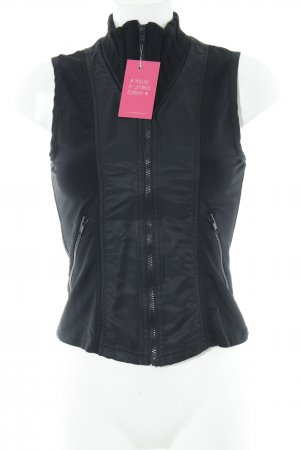 Closed Chaleco deportivo negro look casual