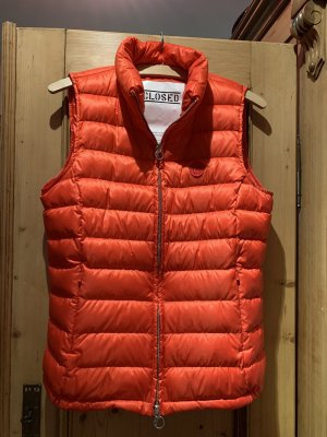 Closed Quilted Jacket brick red-orange
