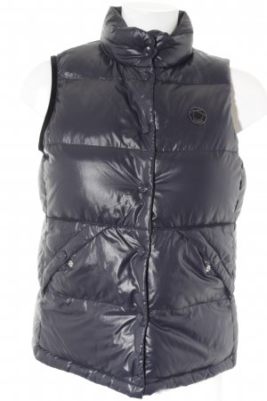 Closed Quilted Gilet dark blue-red quilting pattern classic style